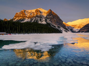 Sunrise over the Lake Louise