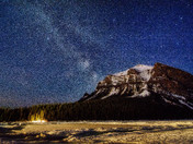 Milky Way over the Lake Louise
