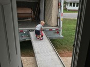 Helping Daddy move