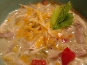 Green Chili Chicken Corn Chowder