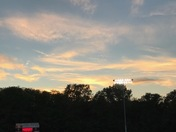 Sunset over Friday night lights