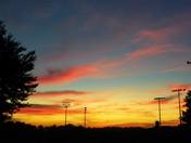 SUNSET FROM SALISBURY TOWNSHIP COMMUNITY PARK, GAP PA