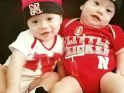 The Littlest Husker twins