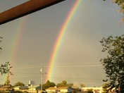 Double rainbow in rio rancho tonite