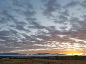 Santa Fe Sunday Sunrise Over the Sangre De Cristos