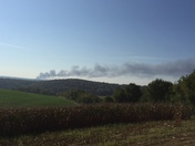 Unity township fire from Salem township