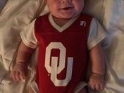 Baby Grayson, our little Boomer Sooner!