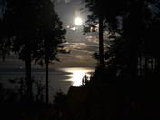 Full moon over the Salish Sea
