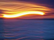 Sunset light painting