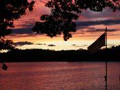 Sunset tonight over Lauder Lakes