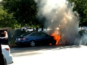 Car fire in Rancho Cordova