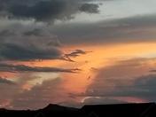 Blazing skies sunset