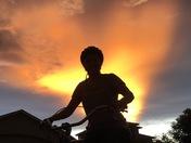 Sunset biker