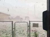 Hail in Belen.