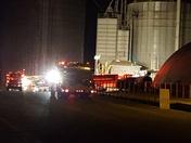 Grain Dryer Fire At Mark Hershey Farms