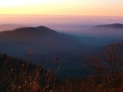 Mystical Blue Ridge Parkway at sunrise