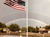 Patriotic Double Rainbow! 10/5/2017