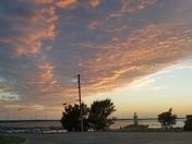 Sunset over Lake Hefner