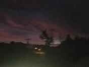 Rare sunrise after harvest moon