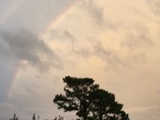 rainbow above chalmette hurricane Nate