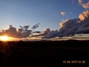nice sunset and hi clouds