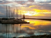 Lake Hefner at Sunset
