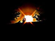 SMOKEY AUTUMN SUNSET