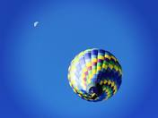 A balloon and a moon