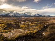 Aerial Landscape near Waterton, Alberta