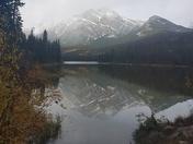 Pyramid Lake in fall