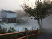 Foggy morning in Milton, NH