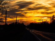 Golden Sky On The Highway