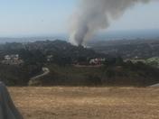 Fire by hwy 68