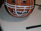 Painting pumpkins with the kids