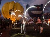 Light writing balloon fiesta