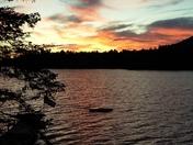 Sunset on Moose Pond