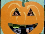 Playing at the Pumpkin Patch