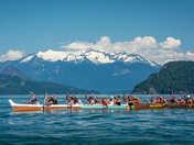Majestic Mountains and War Canoe Participants