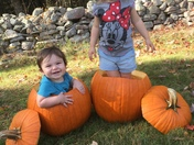 Fun in some pumpkins