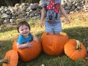 Fun in some pumpkins