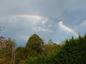 Purlear rainbow after the storm