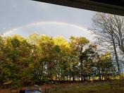Rainbow during storms