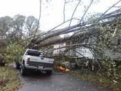 Storm damage, Jerri Howell residence, Boomer community.