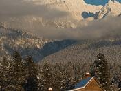 Cabin And Fisher Peak