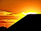 BRIGHT AUTUMN SUNSET BEYOND...