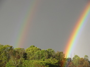 double rainbow, first one i had ever seen. We got 5 inches of rain in 8 hours. w