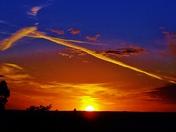 sunset, Mt Sequoyah, 1-24-2017