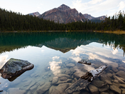 Cavell Lake Reflection