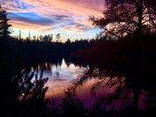Fall Sunset in the Adirondacks