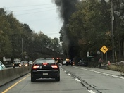 Car fire on McKnight road